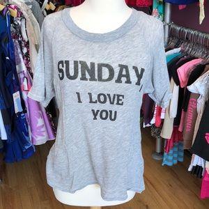 Wildfox XS Sunday, I love you tee